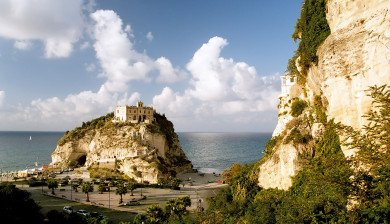 Castle on an island Tropea Italy Sep 2005
