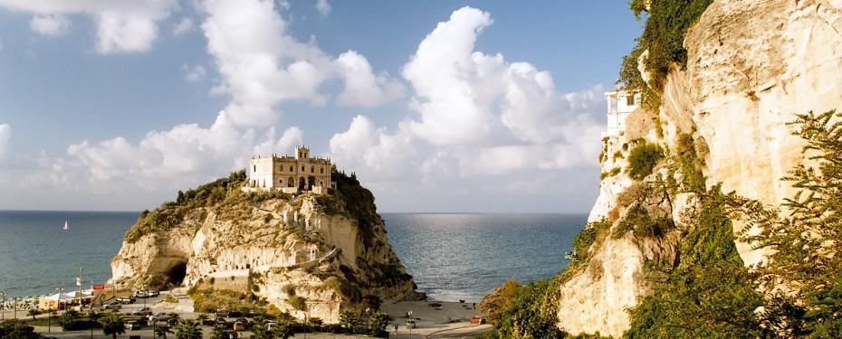 Castle on an island Tropea Italy Sep 2005